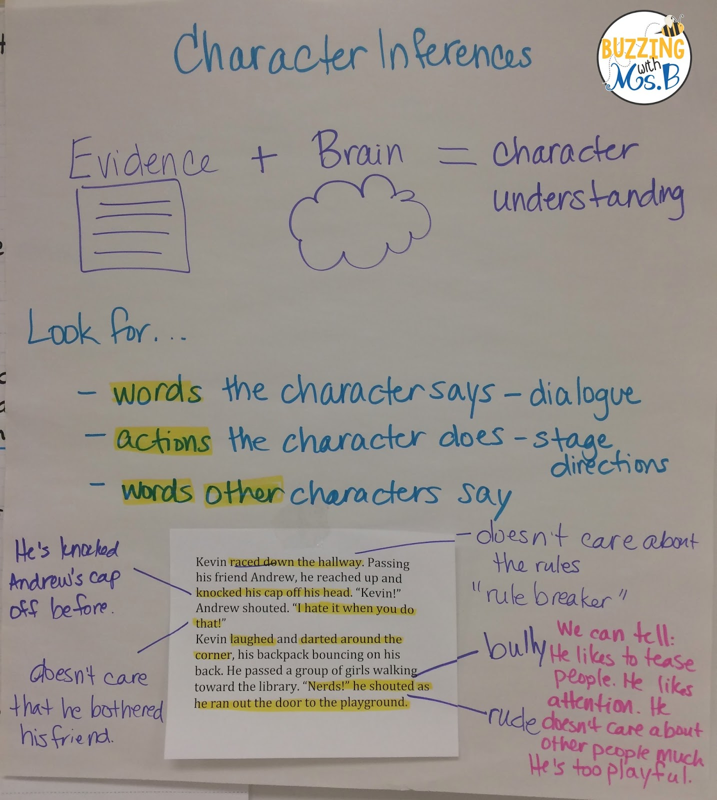 Buzzing With Ms B Ways To Make Anchor Charts Interactive