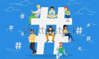 Menggunakan Tagar, Hashtag, atau Simbol # di Judul Postingan
