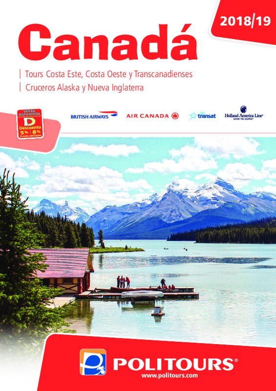 Catálogo Politours Circuitos Canadá 2018-19