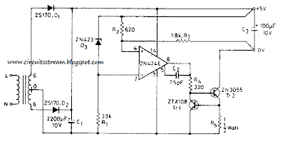 5V 0.5A Power Supply Circuit Diagram
