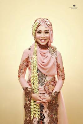 Hijab Pengantin Model Kebaya Klasik