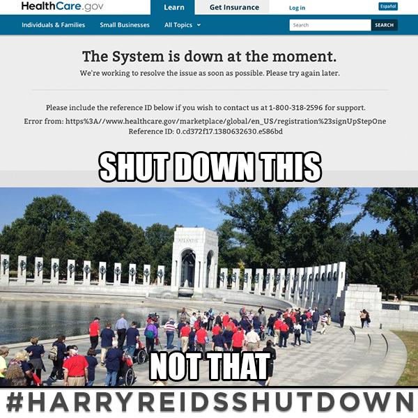 Shut Down of WWII Memorial