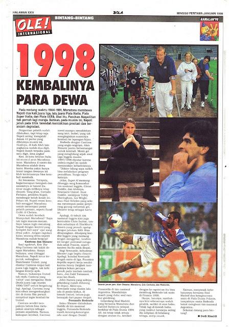 1998 KEMBALINYA PARA DEWA SEPAKBOLA