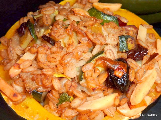 stuffed acorn squash, recipe, fall