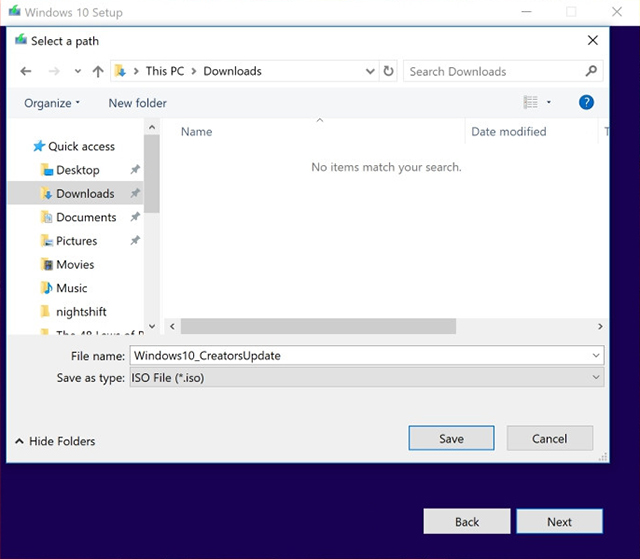 Cara download File ISO Windows 10 Creators Update langsung dari server Microsoft