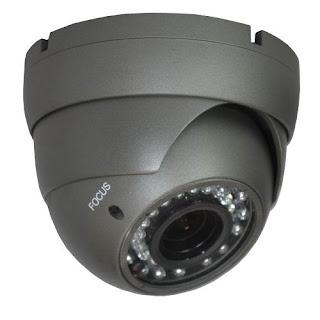 iPower Security SCCAMCVI08 Indoor Outdoor HD-CVI 2.0MP 1080p Dome Security Camera (Grey)
