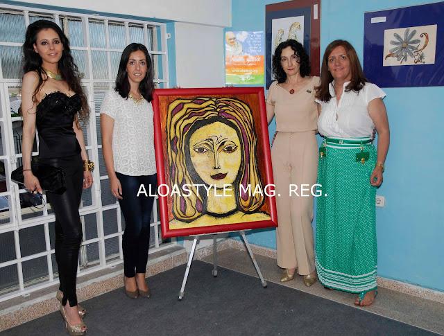 YOLANDA FONT AMADRINA LA EXPOSICIÓN DE MARTA ANA MARÍN EN THELIFESTYLE. A FAVOR DE LA FUNDACIÓN ALADINA.