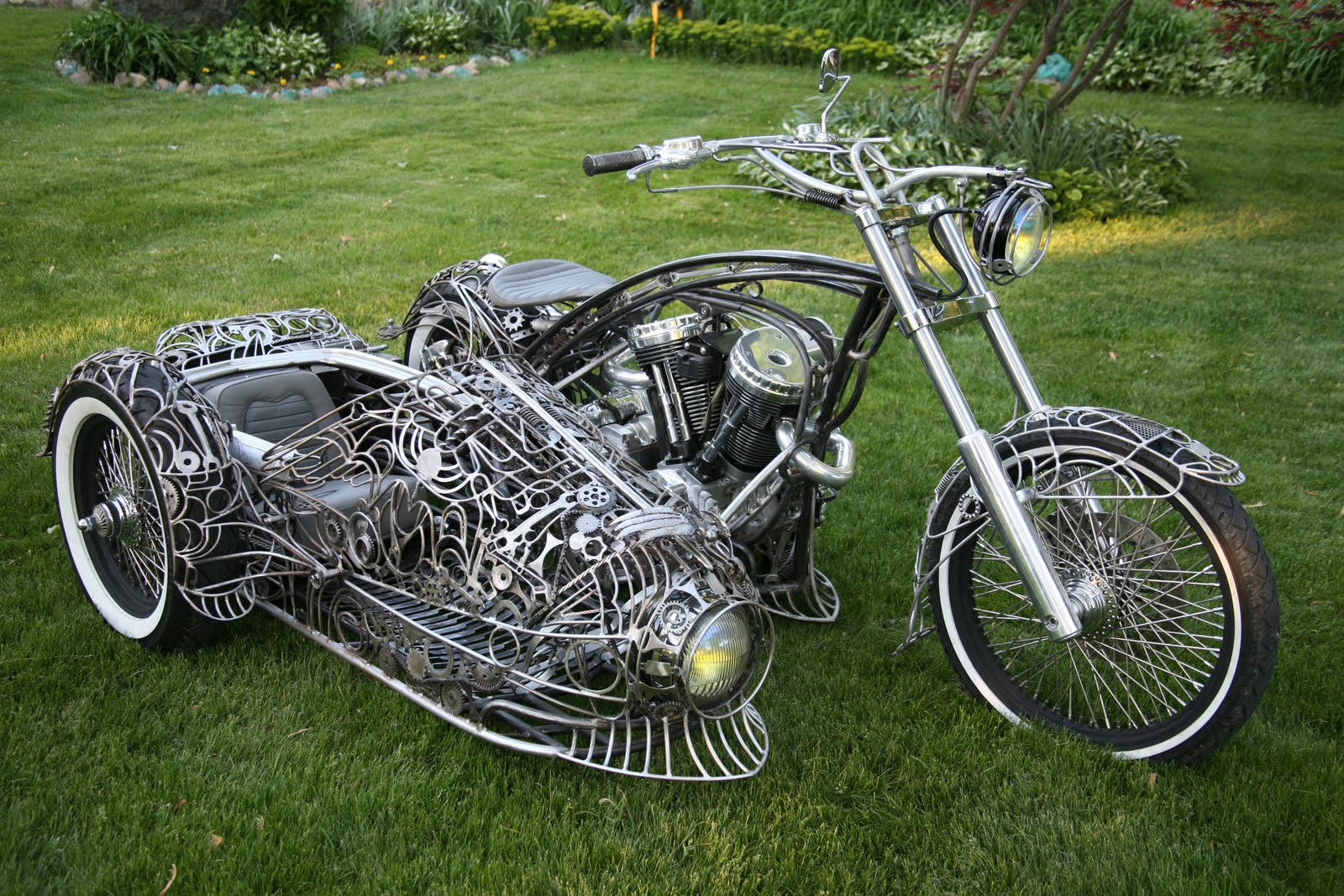 sidecar motorcycle custom bike steampunk bicycle motorcycles ron side finch bikes amazing sidecars tendencies most sherry cars artist latest chopper
