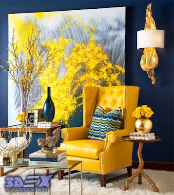 oil painting on canvas, yellow oil paintings, modern wall art