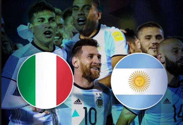 القنوات المفتوحة الناقلة مباراة إيطاليا والأرجنتين الودية مجاناً اليوم الجمعة 23/3/2018 إيطاليا ضد الأرجنتين الودية