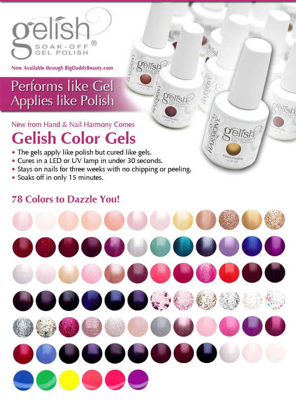 Gelish By Harmony Nails Available And Instock At Daddybeauty Now Has Selection Of 78 Diffe Colors Here Is The List Color