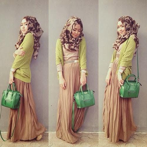 Contoh desain busana muslim sederhana untuk kuliah