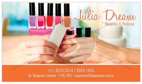 cartao de visita manicure esmalte - Cartões de Visita para Manicure e Pedicure