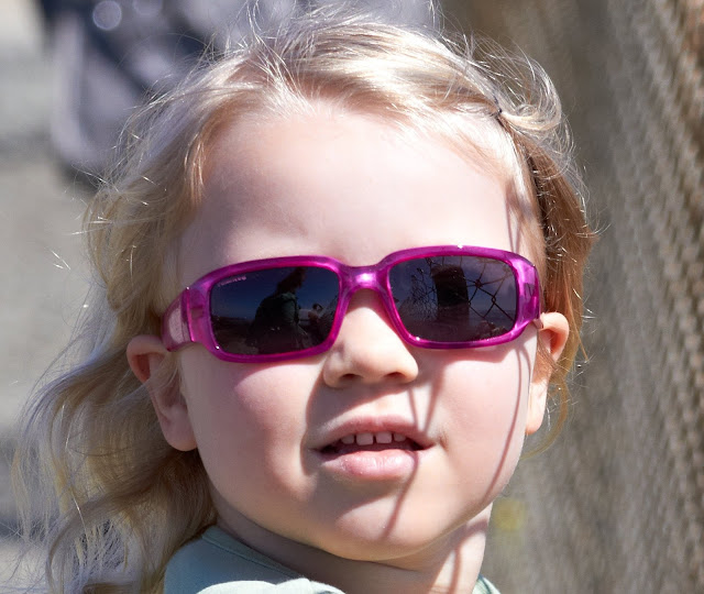 Original photo of my daughter wearing sunglasses