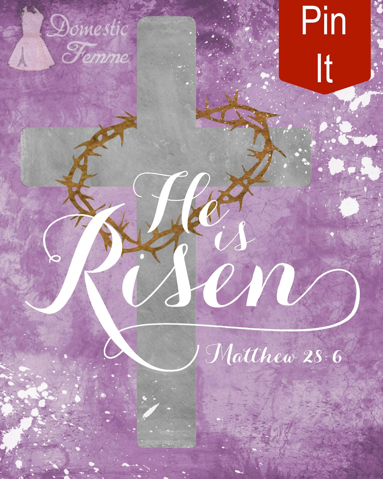 image about He is Risen Printable called Household Femme: He Is Risen Absolutely free Easter Printable