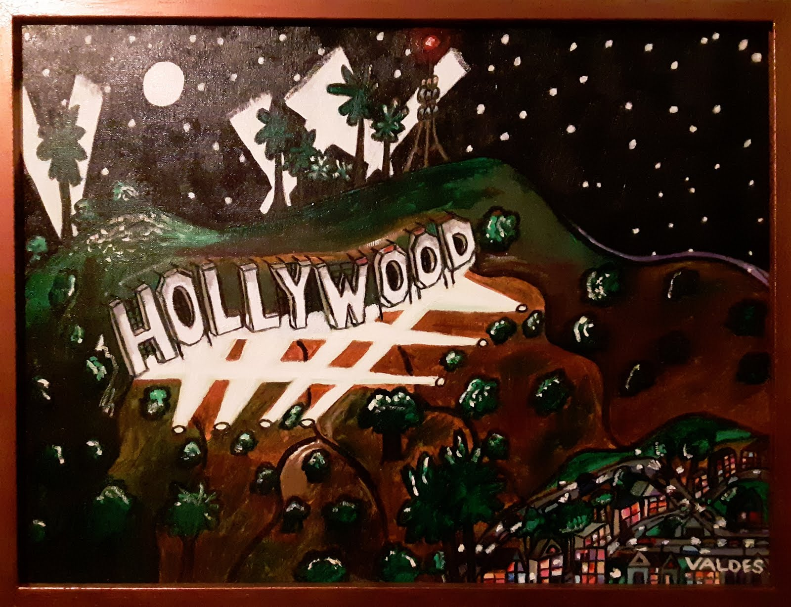 HOLLYWOOD 2 oil painting 18x24