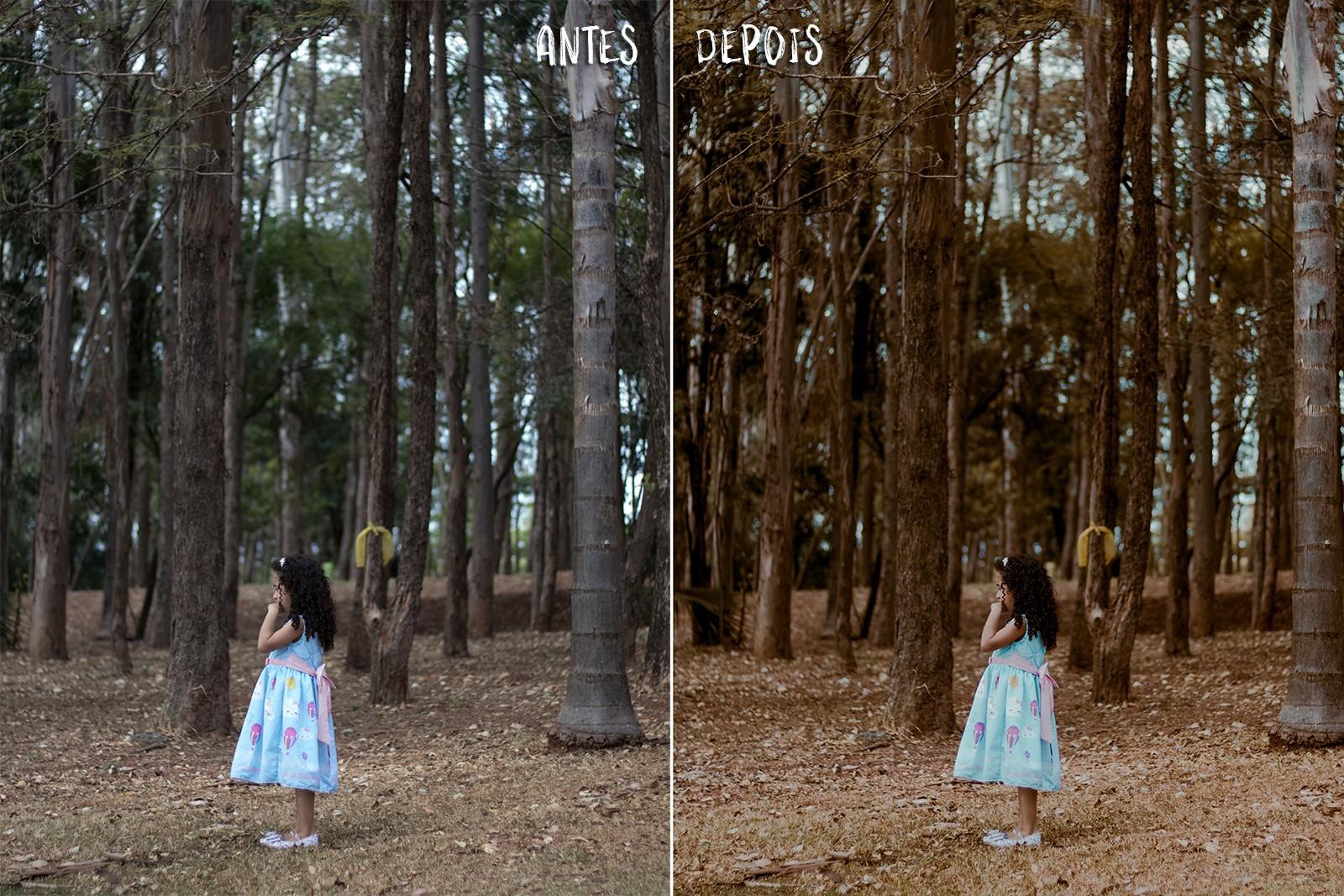 fotografia antes e depois edição