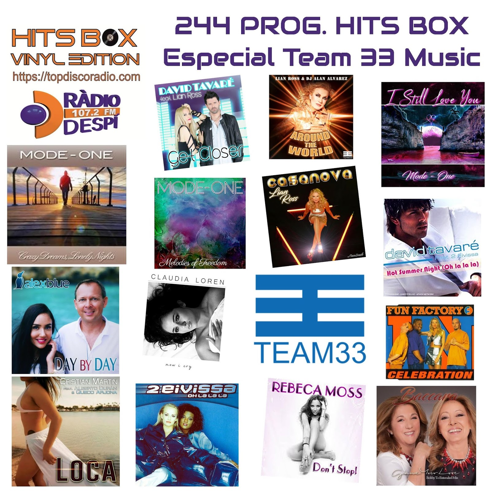 244 Programa Hits Box Especial Team 33 Music.