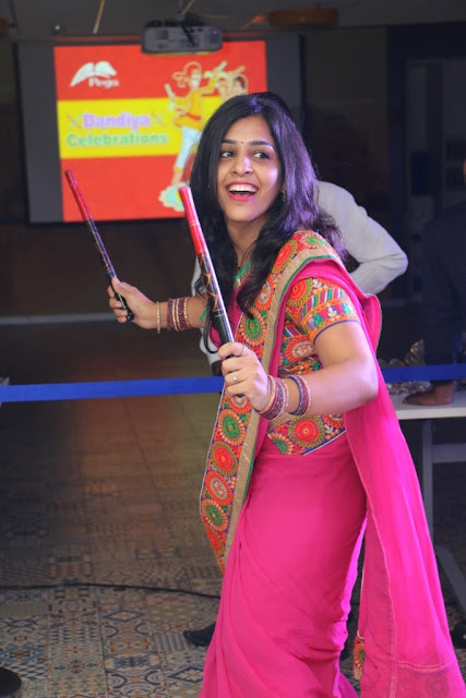 Pegasystems India employees celebrate Dandiya Night