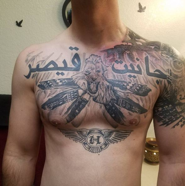 50 Chest Quote Tattoo Designs For Men: 50+ Best Chest Tattoos For Men (2019) Tribal Designs