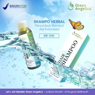 shampoo green angelica, shampoo mengatasi rambut rontok, jual shampoo green angelica