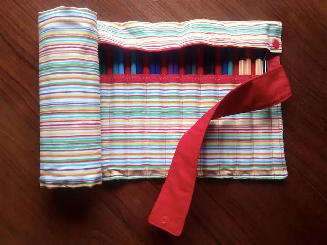 Estojo de rolo de tecido 48 cores | @ateliemadrica
