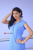 Telugu Actress Mounika UHD Stills in Blue Short Dress at Tik Tak Telugu Movie Audio Launch .COM 0073.JPG
