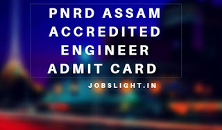 PNRD Assam Accredited Engineer Admit Card