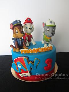 A Patrulha Pata foi ao 3º aniversário do Francisco