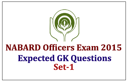 Expected GK Questions for NABARD Officers Exam