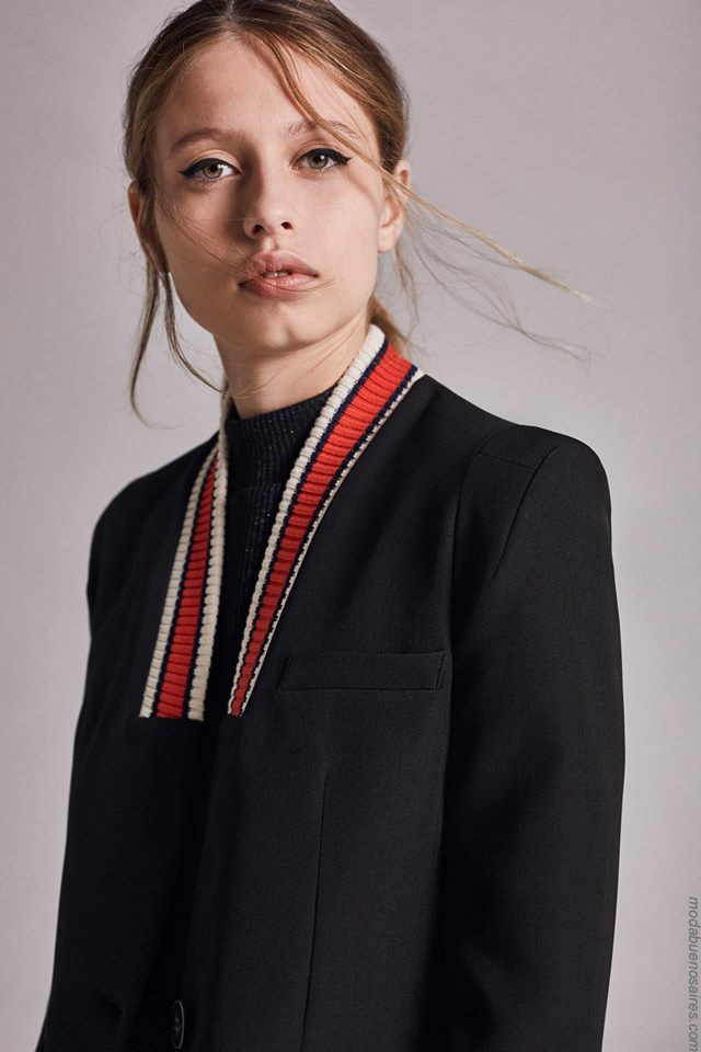 Moda otoño invierno 2019 ropa de mujer elegante y femenina. Sacos de mujer invierno 2019