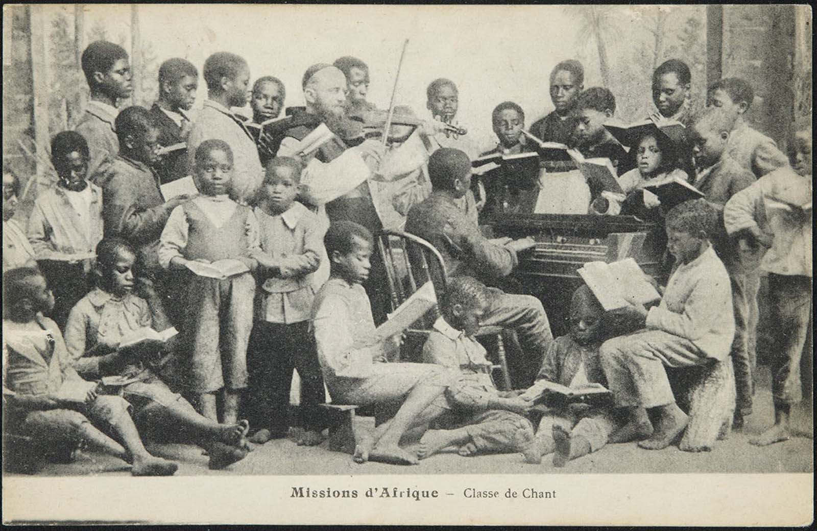 Singing class in Africa.