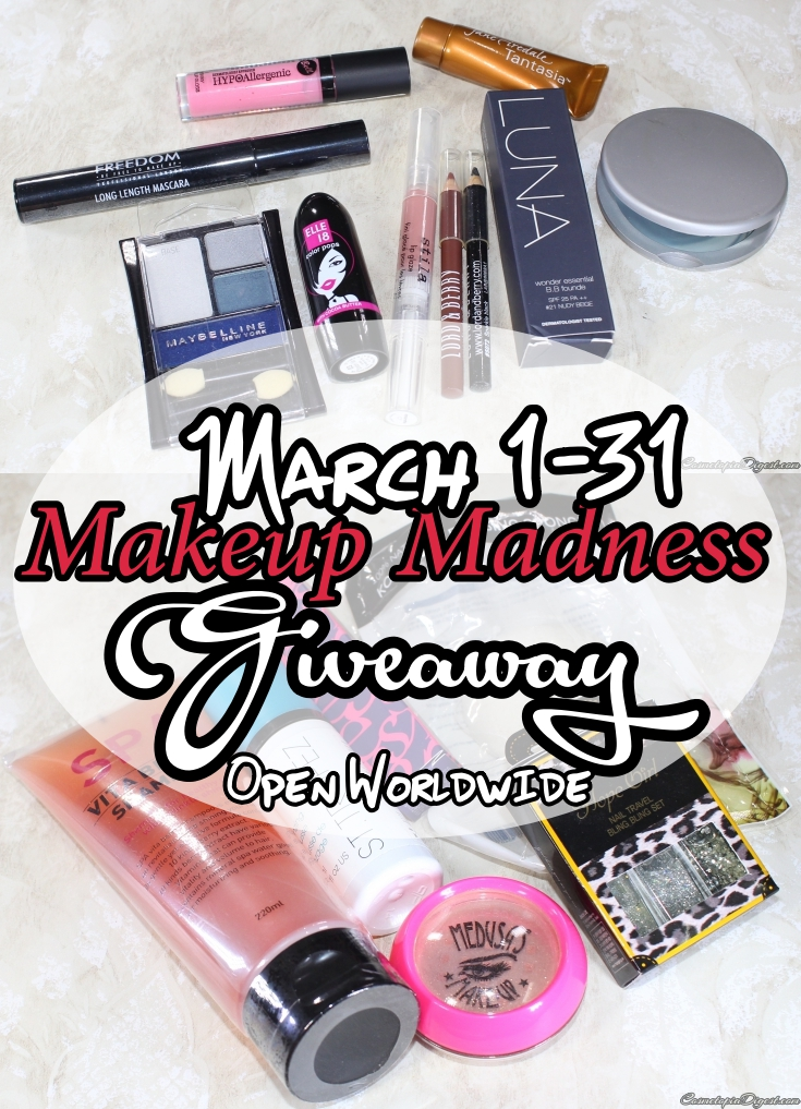Makeup and Beauty Giveaway open worldwide.