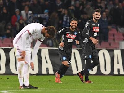 Napoli Taklukan Milan dengan Skor 2-1