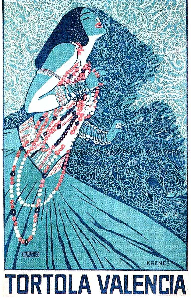 a Carmen Tórtola Valencia color poster