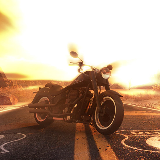 Motorbike Route 66 Audio Responsive Wallpaper Engine