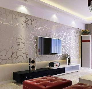 Contoh Gambar Wallpaper Dinding Rumah Minimalis untuk Ruang Keluarga
