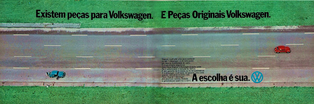 propaganda peças originais Volkswagen - 1975. brazilian advertising cars in the 70. os anos 70. história da década de 70; Brazil in the 70s; propaganda carros anos 70; Oswaldo Hernandez;