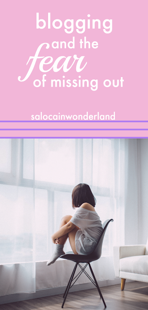 blogging and the fear of missing out. how do you deal with it when everyone else is getting invited to events and being sent PR packages and there's nothing but a tumbleweed blowing through your inbox? #blogging #bloggingtips #bloggerhelp