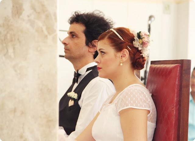 cerimonia de casamento retrô