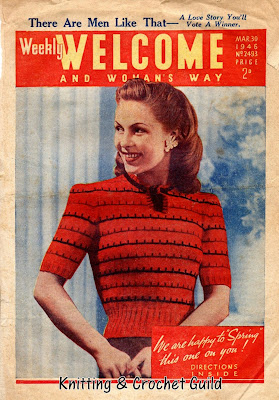 1940s vintage knitting pattern; clothes rationing