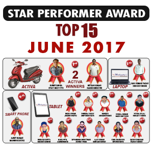 Star Performer Toppers - June 2017
