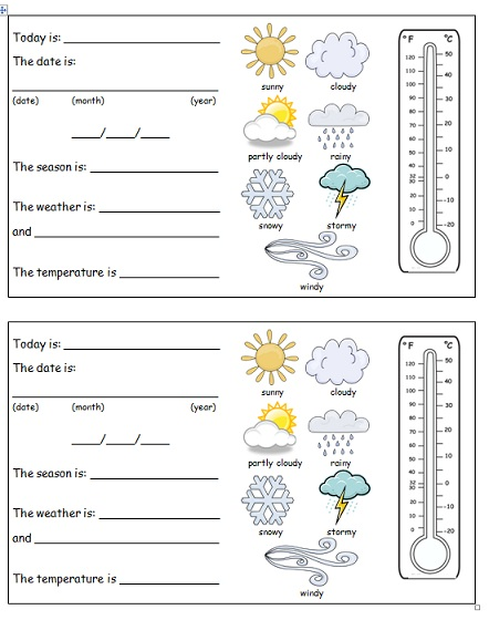 To is worksheet booklet page weather  from daily tracker report also new rh weatherworksheet spot
