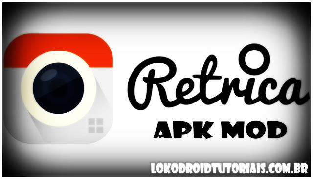 Retrica APK Mod unlocked todos os filtros