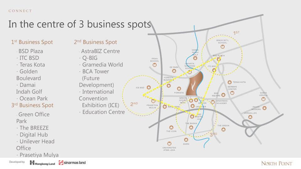3 business spot surrounding navapark bsd