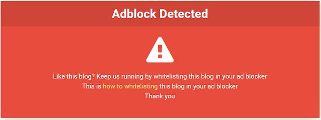 Cara Membuat Adblock Killer pada Blog Terbaru 2017