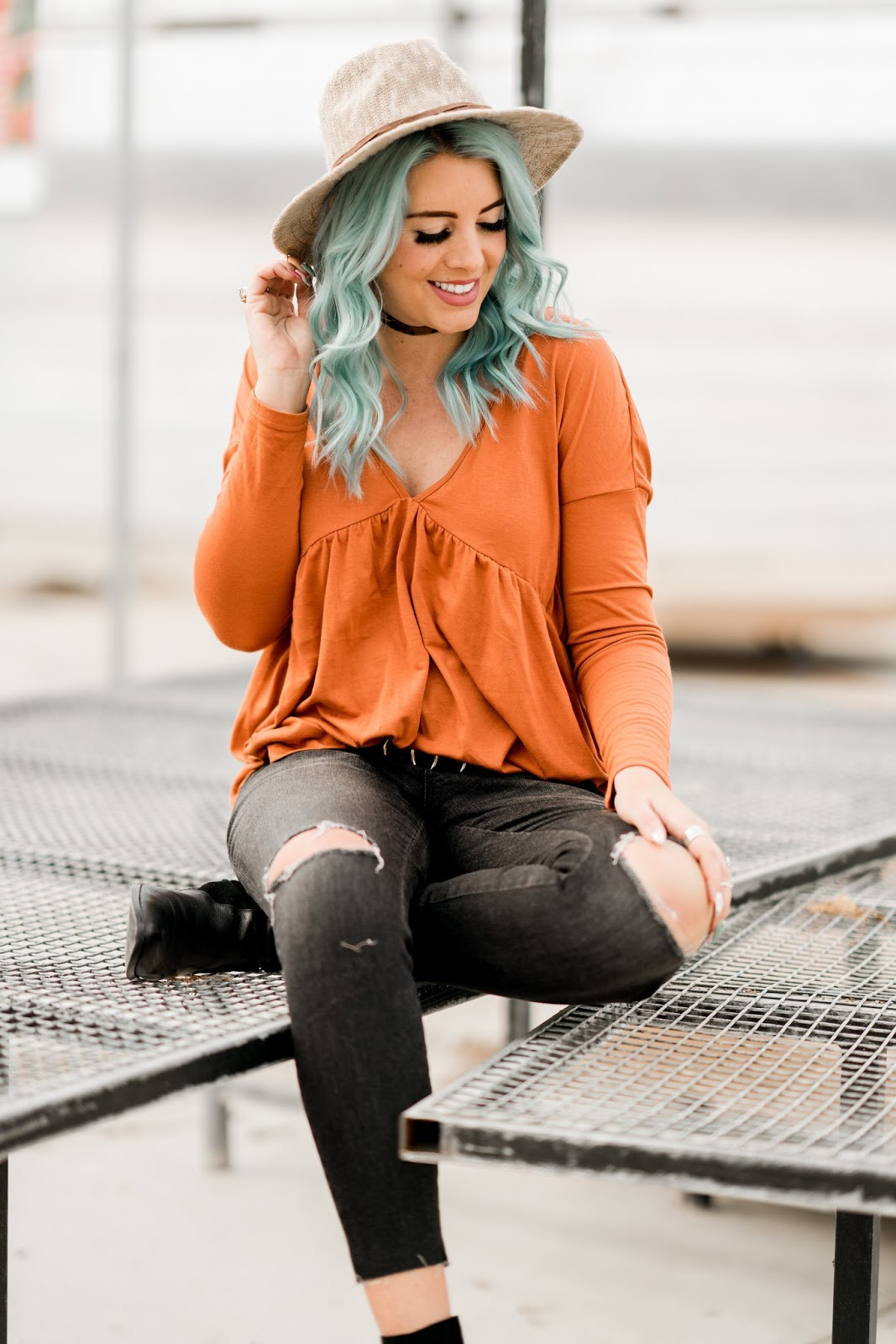 Boho, Blue Hair, Utah Fashion Blogger