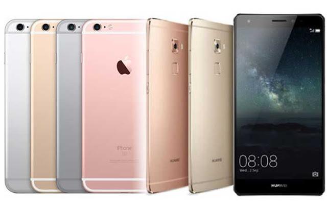 Pasar di China, Huawei Nomor 1, Apple 5 Besar