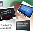 NFL Football TV Schedule | Monday Sunday Thursday Night Football