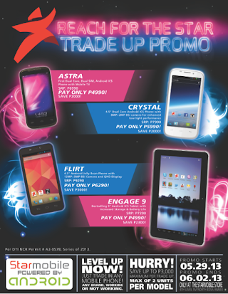 Starmobile Trade Up Promo – Trade in your working and non working phone of any brand